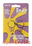 Bitchy Butterfly Nipple Rings - Fluttering Pink (Scala - ToyJoy)