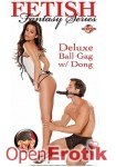 Deluxe Ball Gag with Dildo - Black (Pipedream - Fetish Fantasy Series)