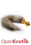 Fox Tail Buttplug - Gold (Shots Toys - Ouch!)