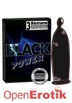 Secura Kondome - Black Power 3er Pack (Secura) Erotik Spielzeuge und Kondome Erotiktoys und Kondome