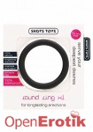 Round Cock Ring  - Black - XL (Shots Toys)